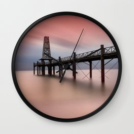 Wooden Pier Wall Clock