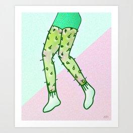 Legs Cactus Art Print