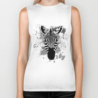 splatter Biker Tanks featuring Splatter Stripes by AdamAether