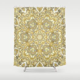 Orange and Yellow Kaleidoscope 1 Shower Curtain