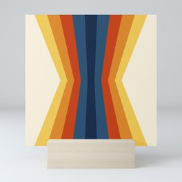 Bright 70's Retro Stripes Reflection Mini Art Print