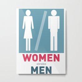 Women Men Metal Print
