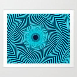 Circular Optical Illusion Art Print