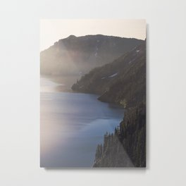 First Light at the Lake Metal Print