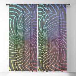 Happy Rainbow Trails Sheer Curtain