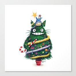 Christmas T0T0R0 (Studio Ghibli) Canvas Print