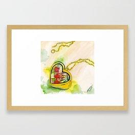 Love locket Framed Art Print