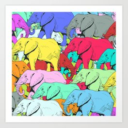 Elephants Parade Art Print