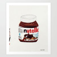 nutella Art Prints featuring Nutella by Angela Dalinger