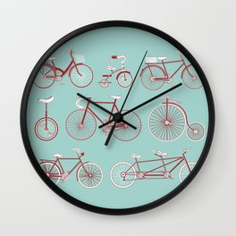 Pedal to the Mettle Wall Clock