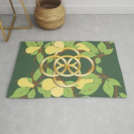 12 Days of Christmas: Five Golden Rings Rug