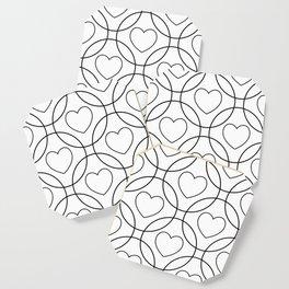 Decor with circles and hearts Coaster