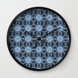 Airy Blue Floral Abstract Wall Clock