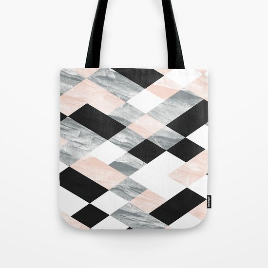 Pastel Scheme Geometry Tote Bag
