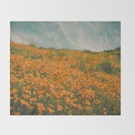 California Poppies 016 Throw Blanket