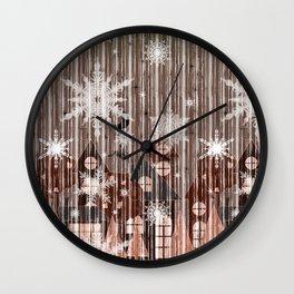 Stylized night city. 2 Wall Clock