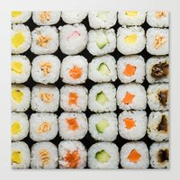 sushi Canvas Prints featuring Sushi by Katieb1013