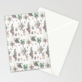 Houseplant Pattern Stationery Cards
