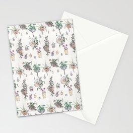 Houseplant Pattern Stationery Cards