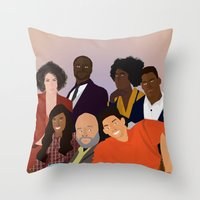 fresh prince Throw Pillows featuring The Fresh Prince by Jara Montez
