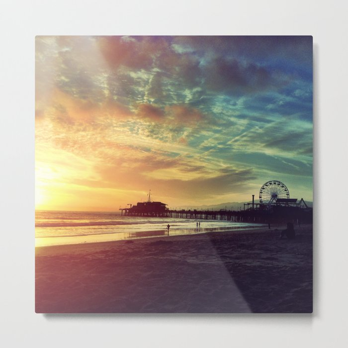 Santa Monica Sunset Metal Print