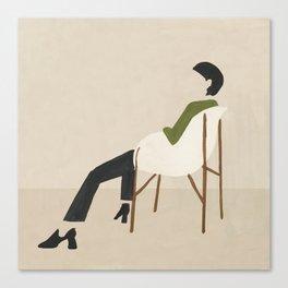Eames Chair Woman Canvas Print
