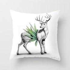 Whitetail Buck Throw Pillow