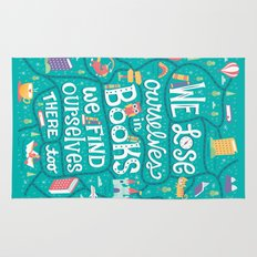 Lose ourselves in books Rug