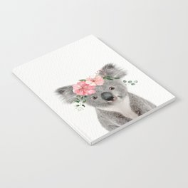 Baby Koala with Flower Crown Notebook