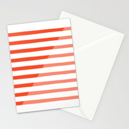 Beach Stripes Red Pink Stationery Cards