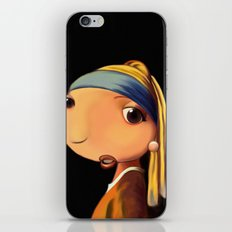 Girl with a Pearl Earring iPhone & iPod Skin