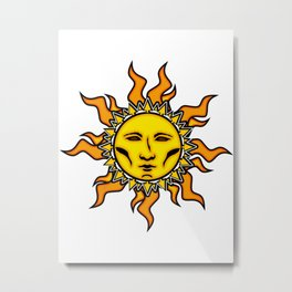 Sublime Sun Psychedelic Character Design Logo Metal Print