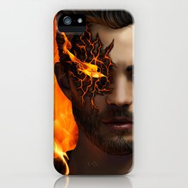 Man Aflame iPhone Case