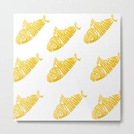 Yellow Submarines Metal Print