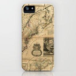 Map of North America (British Colonies) 1731 iPhone Case