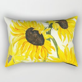 sunflower watercolor 2017 Rectangular Pillow