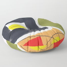 Dear Ben - abstract painting mid century modern Floor Pillow