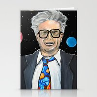 snl Stationery Cards featuring Will Ferrell as Harry Caray SNL by Portraits on the Periphery