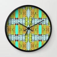 booty Wall Clocks featuring Booty by Patty Hogan