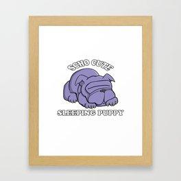 SCHO CUTE SLEEPING PUPPY Framed Art Print