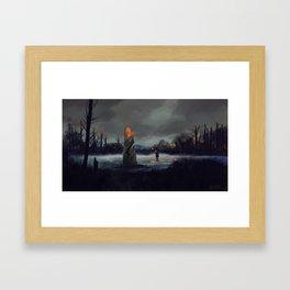Broken Charter Stone Framed Art Print