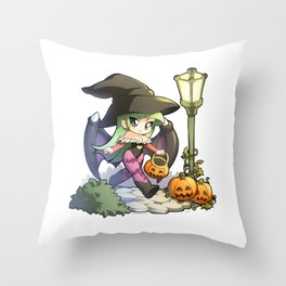 Halloween Morrigan Throw Pillow