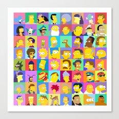 Simpsons Canvas Print