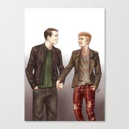 Punk Boyfriends Canvas Print