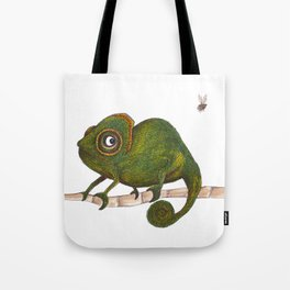 Chameleon vs fly Tote Bag