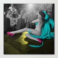 burlesque Canvas Prints featuring Burlesque by POP Prints by FMcLaws