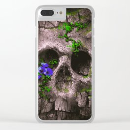 Skull Mountain Clear iPhone Case