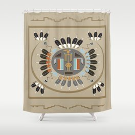 American Native Pattern No. 115 Shower Curtain