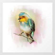 singing birdie3 Art Print