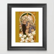 Chronos III Nouveau Framed Art Print